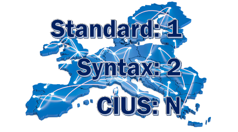 eInvoice and EN16931: 1 Standard, 2 Syntaxes, many CIUS